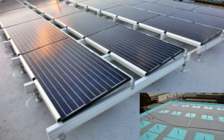防水工事をして太陽光発電を