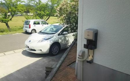 電気自動車の充電に太陽光発電の電気を
